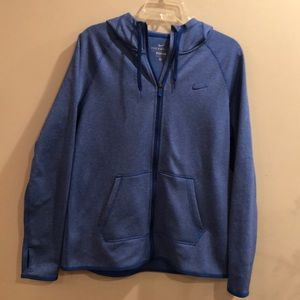 Nike Other - Nike Therma-Fit full zip thumb hole blue hoodie M